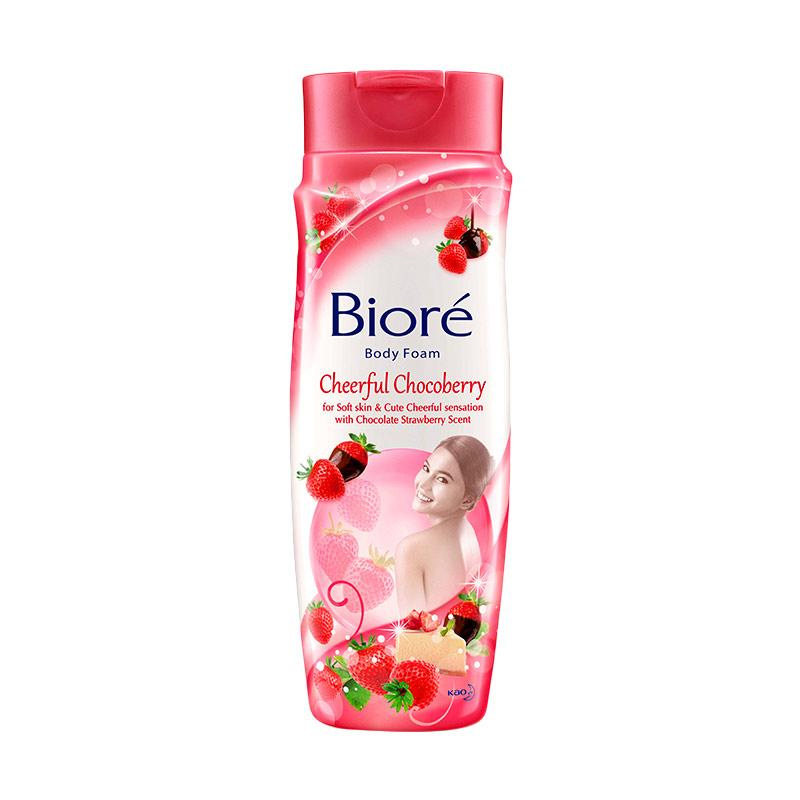 Biore Body Foam Cheerfull Chocoberry Botol 250Ml
