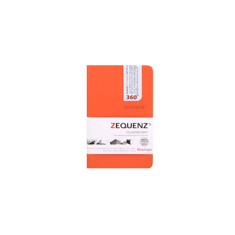 Highpoint Zequenze Notebook Boutique A6mini Tangerine-85 Sheets,100 GSM