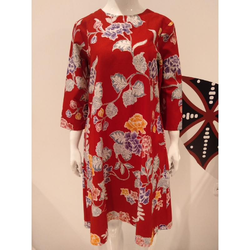 Astari Batik Dress Red