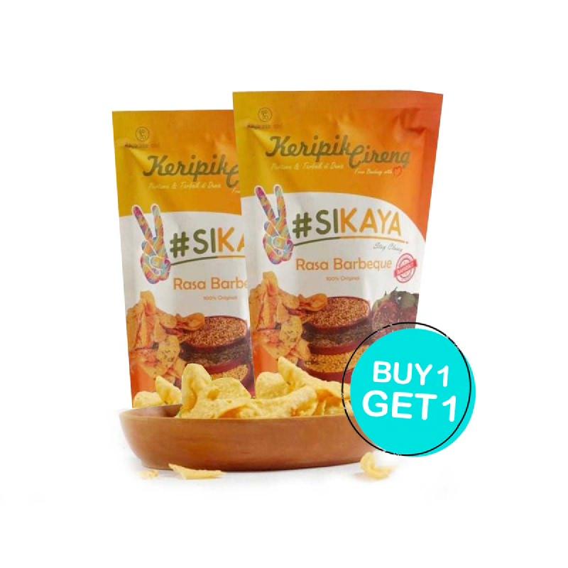 Sikaya Keripik Cireng Barbeque 55 Gr (Buy 1 Get 1)