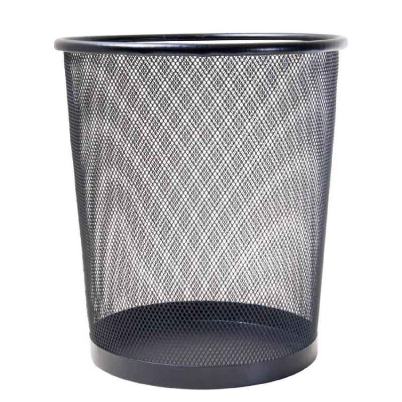 JYSK Metal Mesh Trash Bin Blk