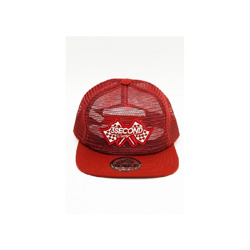 3Second Men Hat 0807 Red
