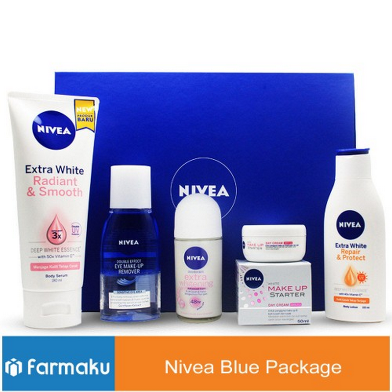 Nivea White and Beauty Blue Package