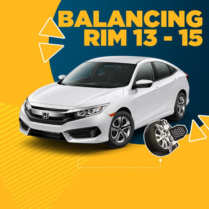 Balancing Rim 13-15 (4 Roda) + Free Check-up 58 komponen kendaraan