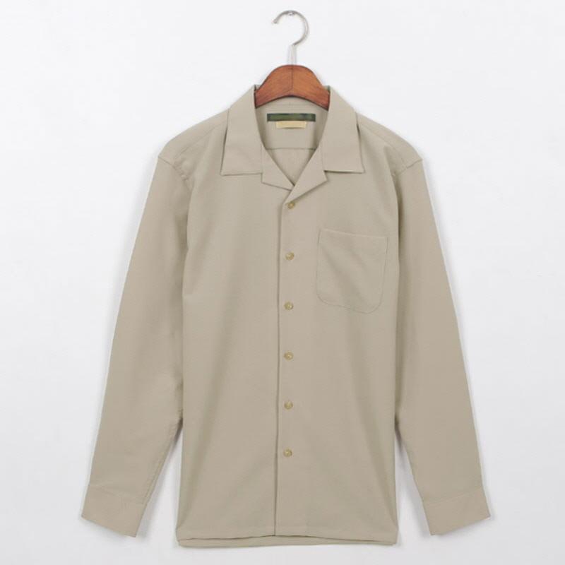 Planner Open Collar Shirt Ivory