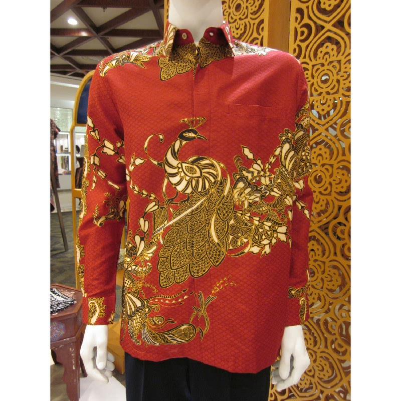 Batik Semar Hem Panjang Sekar Srempang 30 Merah (ML)