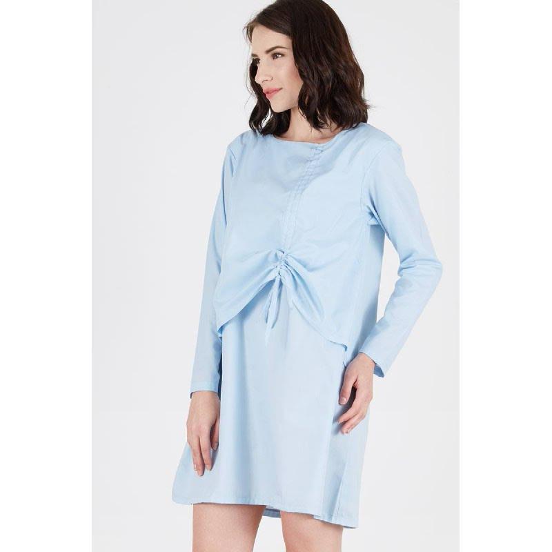Renesme Gathered Dress Blue