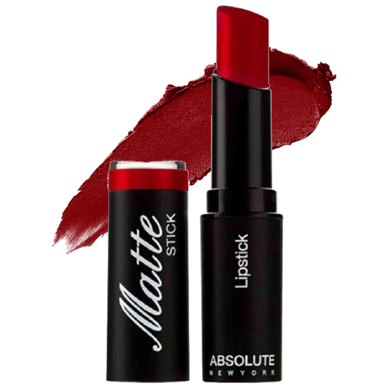 Absolute New York Matte Stick Lipstick Dark Red