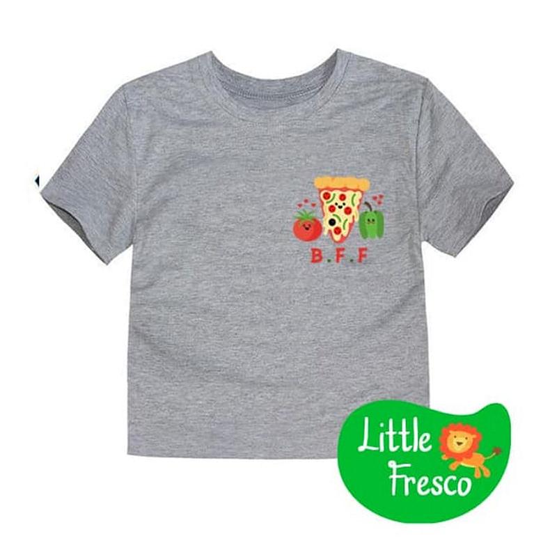 Little Fresco - Kaos Anak BFF Pizza Abu
