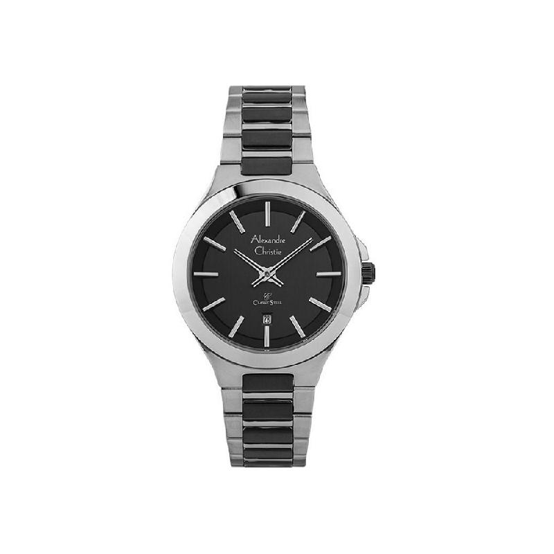 Alexandre Christie AC 8634 LDBTBBA Women Watch Stainless Steel Silver Black