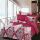 Sleep Buddy Set Sprei dan bed cover Classic Red Cotton Sateen 120x200x30