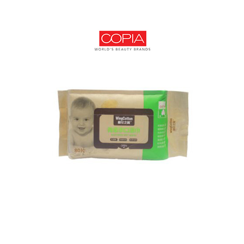 Copia Wingcotton Cootoon Wet Wipes Green