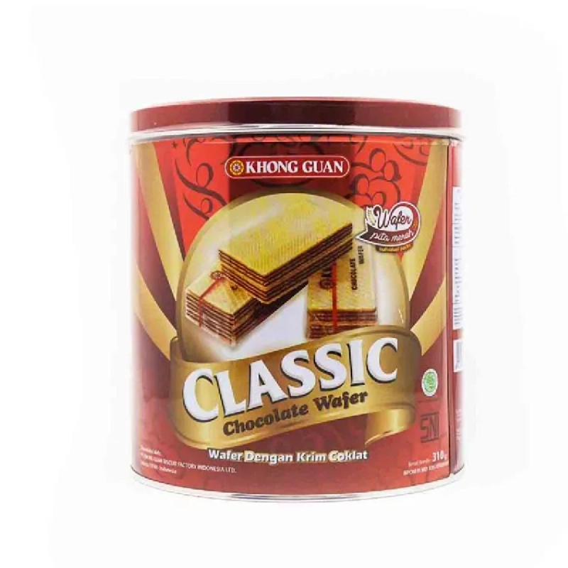 Khong Guan Wafer Classic Coklate Tin 310G