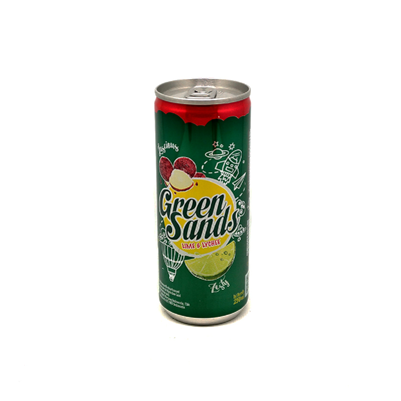 Green Sands Minuman Ringan Rasa Leci & Jeruk 250 Ml