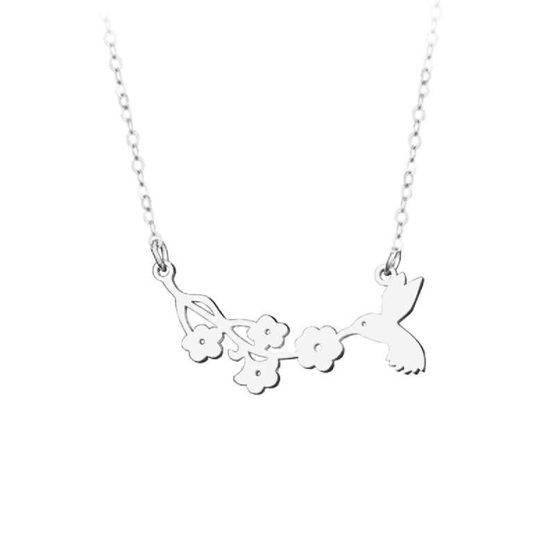 BE.JUU Kalung Wanita Bird of Beauty Korean Jewelry Silver