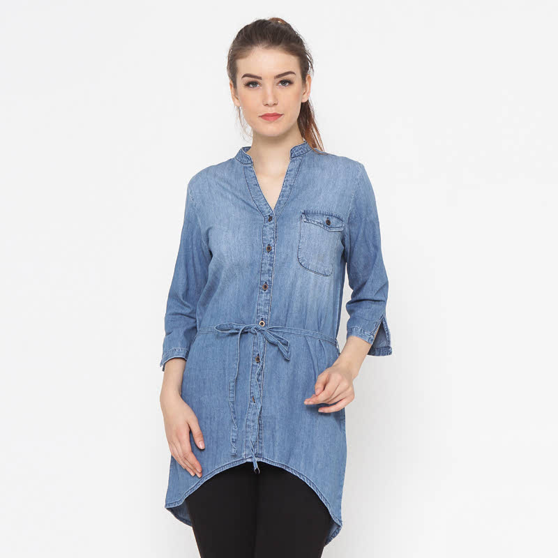 Laurencia-Blb Light Blue Shirt Ladies Denim