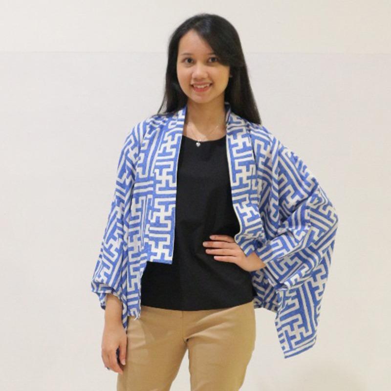 Batik Chic Bolero Banji Blue White