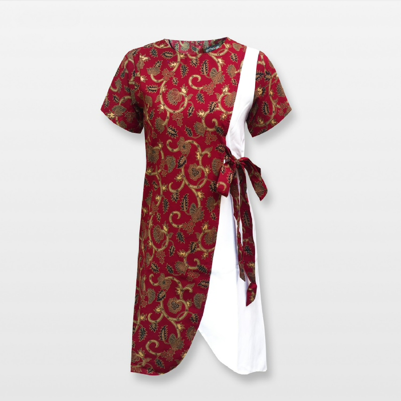 Arthesian Batik Wanita Ayunda Maroon (Chinese New Year)