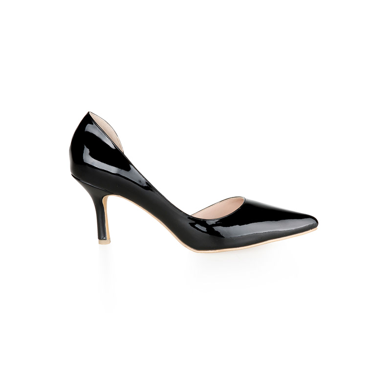 Armira High Heels D-Orsay Pointed Toe Shoes Black
