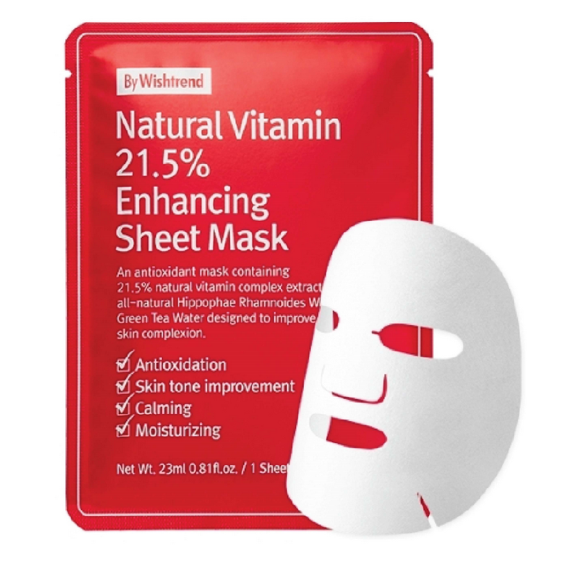 By Wishtrend Natural Vitamin 21,5% Enhancing Sheet Mask 23gr