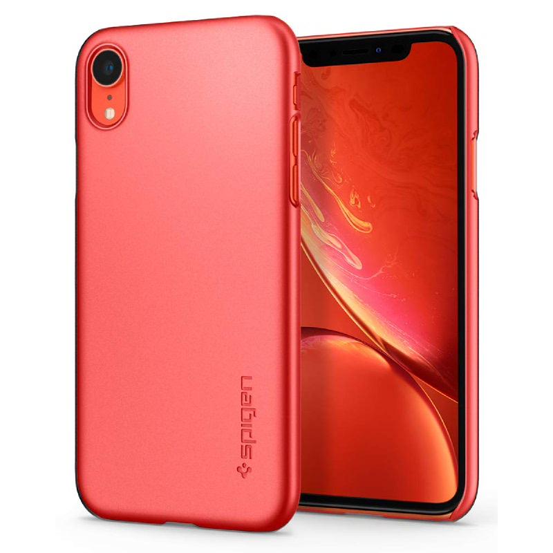Spigen iPhone XR Case Thin Fit - Coral