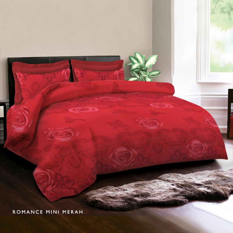 King Rabbit Bed Cover Double Motif Romance Mini- Merah