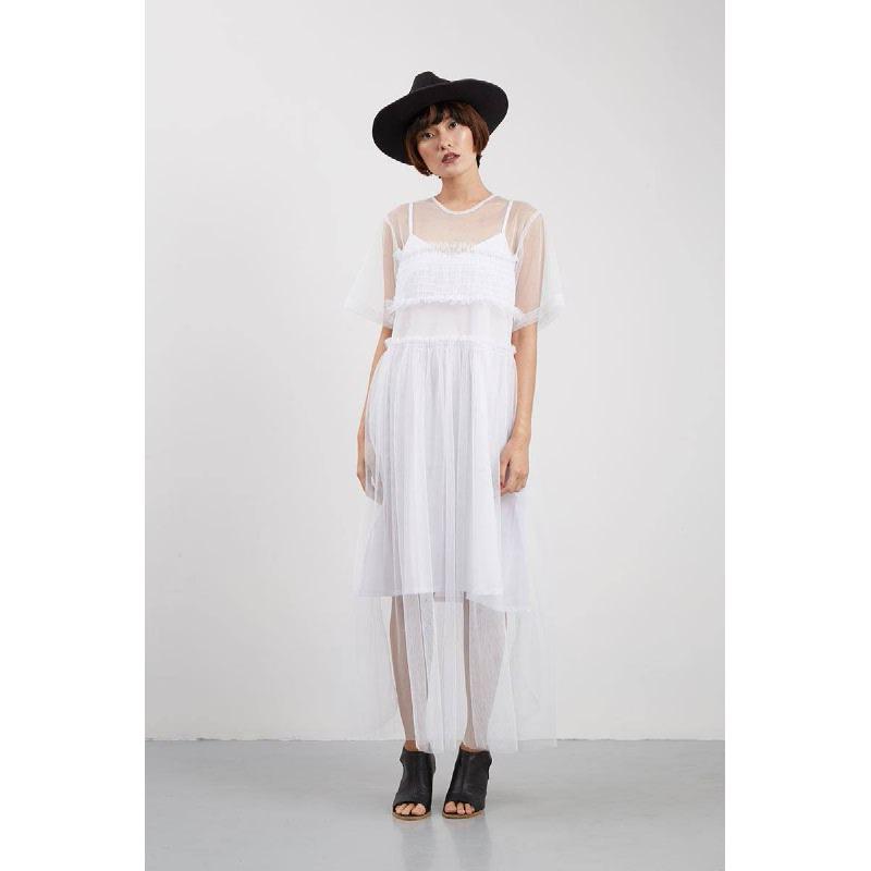 Tania Shirt Dress White