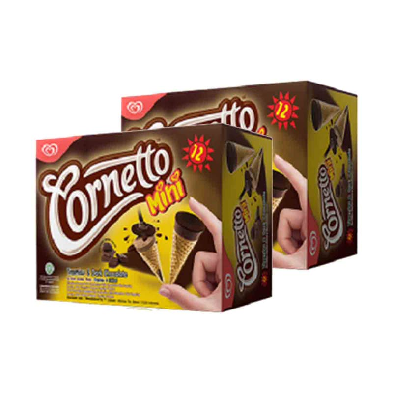 Walls Cornetto Mini Disc Tiramisu & Dark Chocolate 12 x 28ml (Buy 1 Get 1)