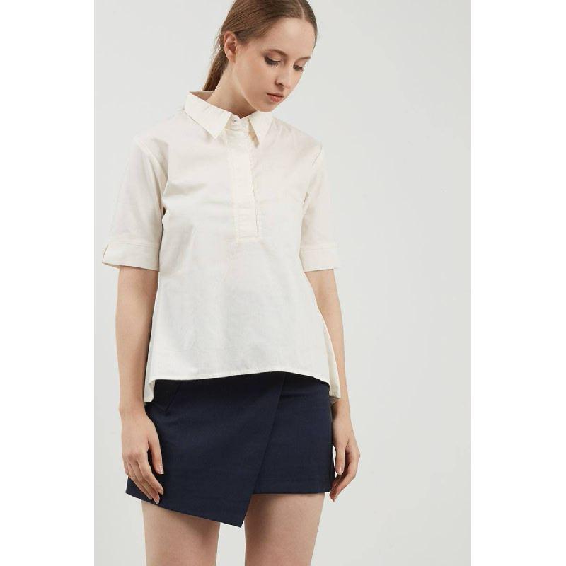 Erica Creme Flare Shirt