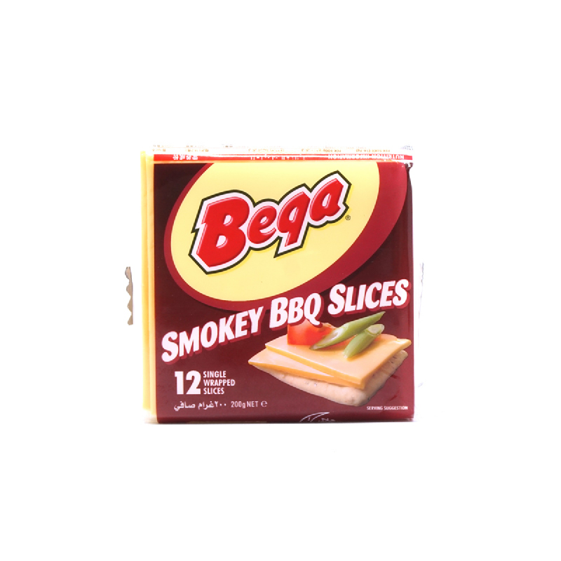 Bega Cheese Smokey Barberque Slice 200G