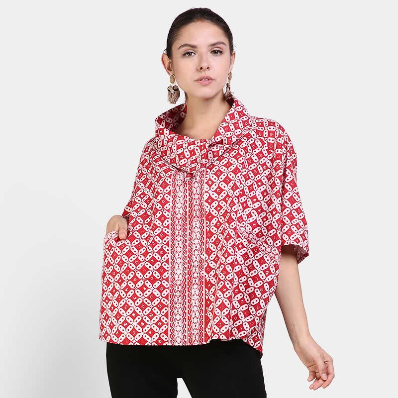 Astari Batik Top Red