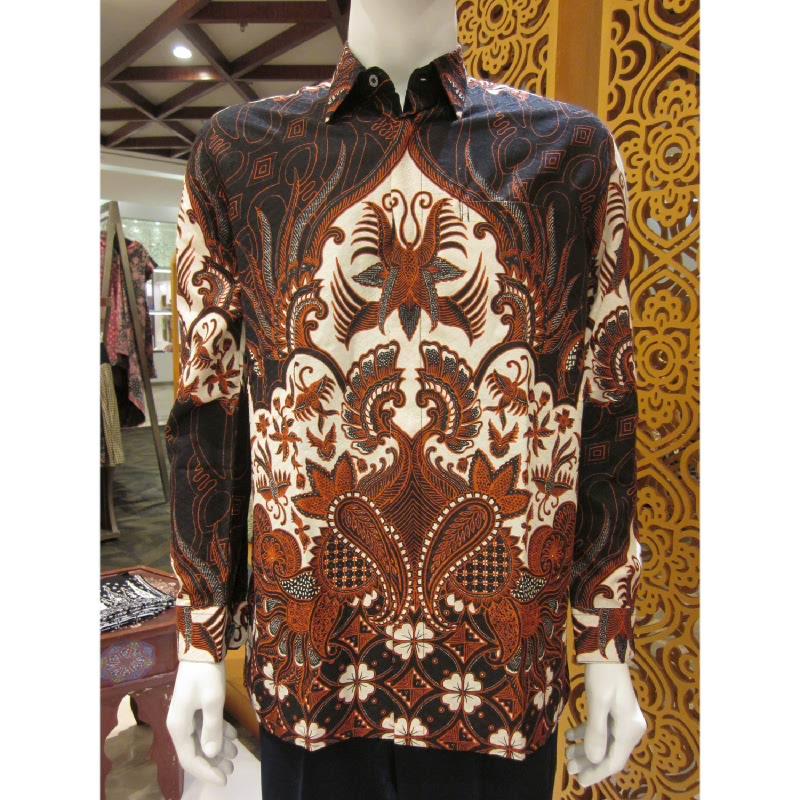 Batik Semar Hem Panjang Dobi Ceplok Kawung 52 Sogan (SML)