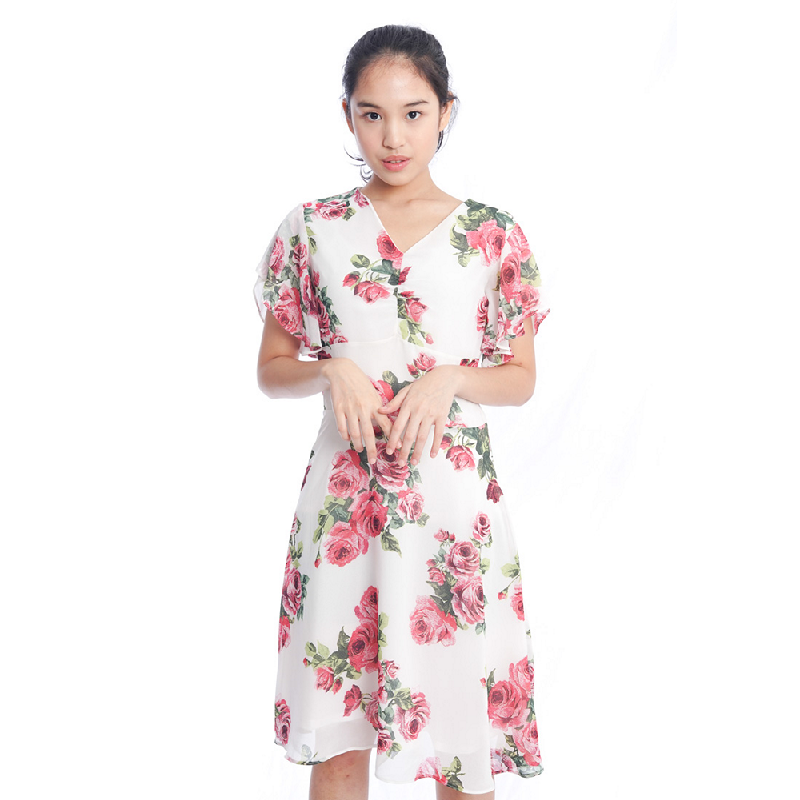 Agatha Laura Rose Dress Putih