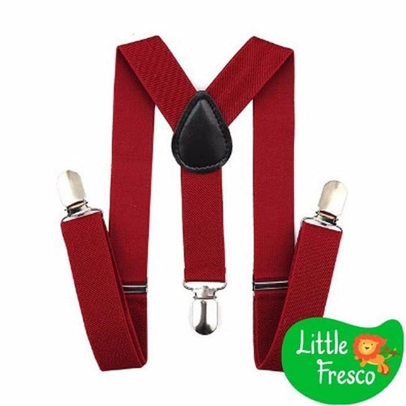 Little Fresco Suspender Anak- Maroon