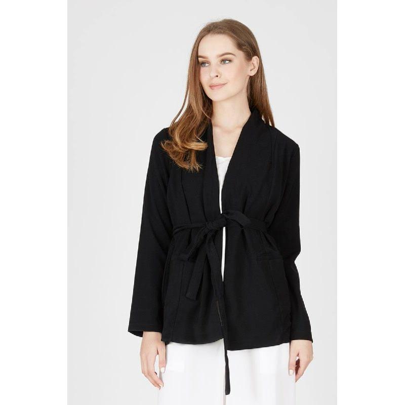 Melly Wrap Black jacket
