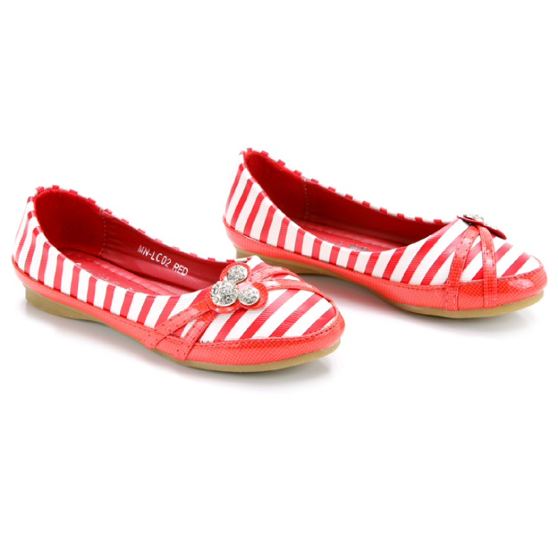 Minnie Mouse Flat Shoes Red