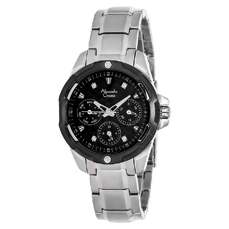 Alexandre Christie AC 6305 BF BTBBA Ladies Black Dial Multifunction Watch