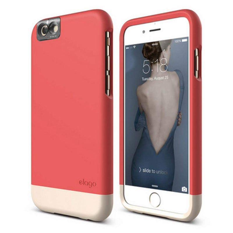 Elago Glide Cam Case for iPhone 6S - SF Italian Rose + SF Champagne Gold