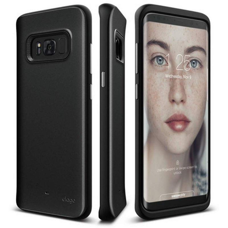 Elago Galaxy S8 Grip Hybrid Case - Midnight Black