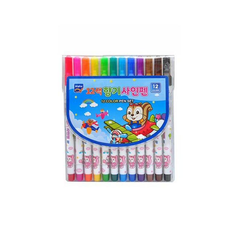 Alpha Colored Pen 12 Colors - Blue