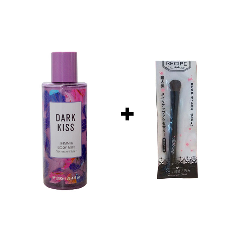 Beaute Recipe Big Brush + Beaute Recipe Dark Kiss Shimmer Body Mist