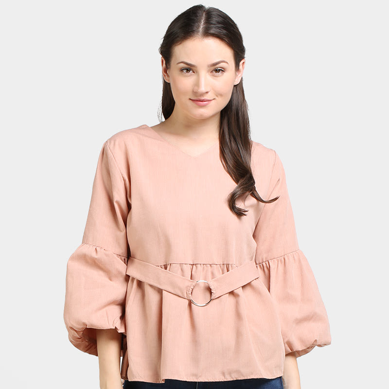 Office Hours Aliana Blouse Brown