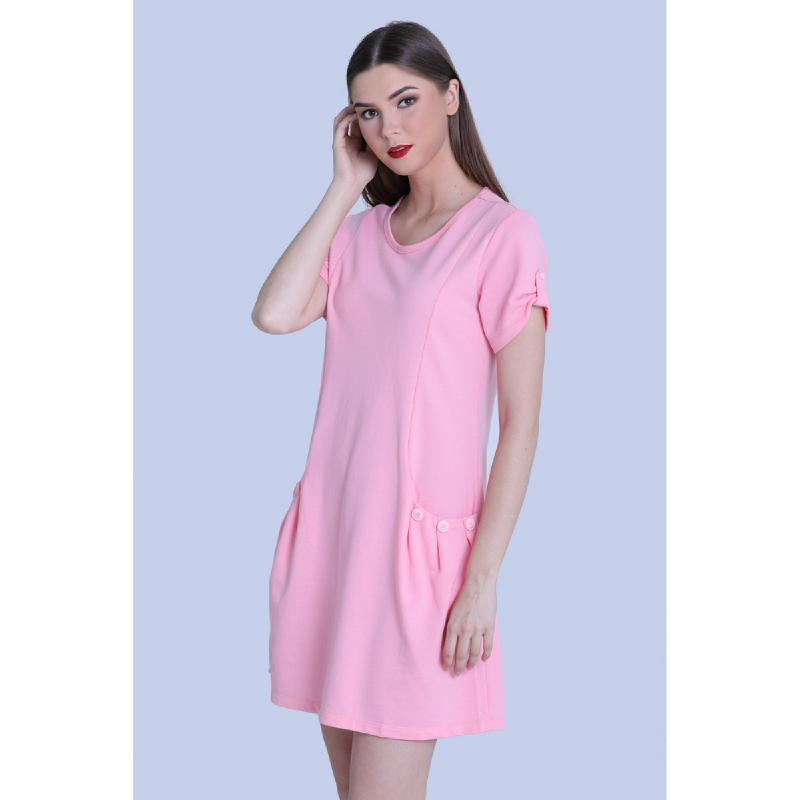 Miyoshi Josei MJ18DR128WT Baby Pink Knit Dress