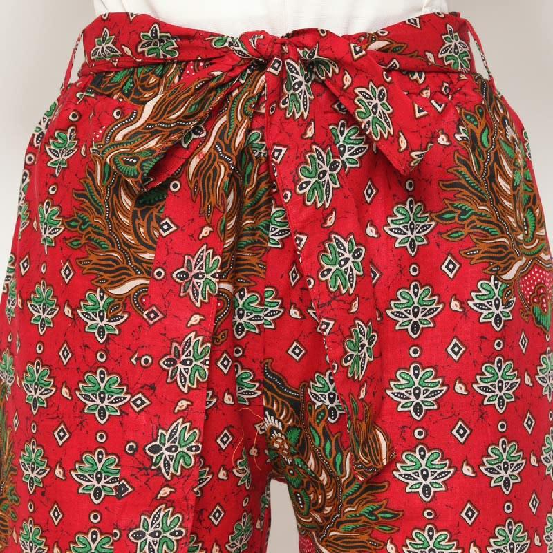 Winggo Falisha Batik Kulot Pants - Red