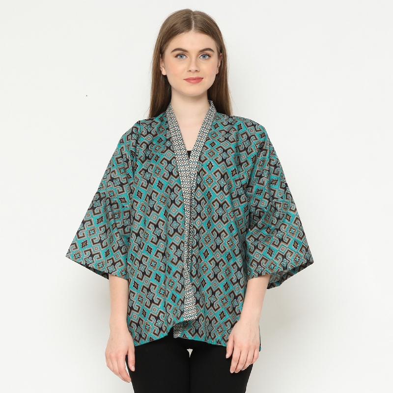 Winggo Lestia Kimono Batik Outer Green