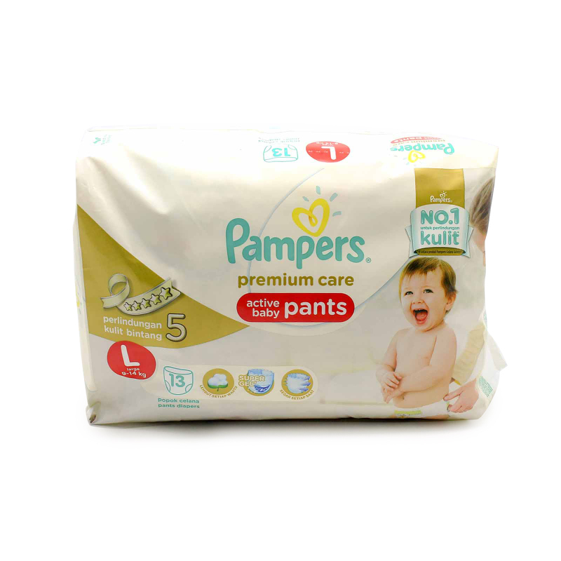 Pampers Premium Active Baby Diaper Pants Economy L 13S