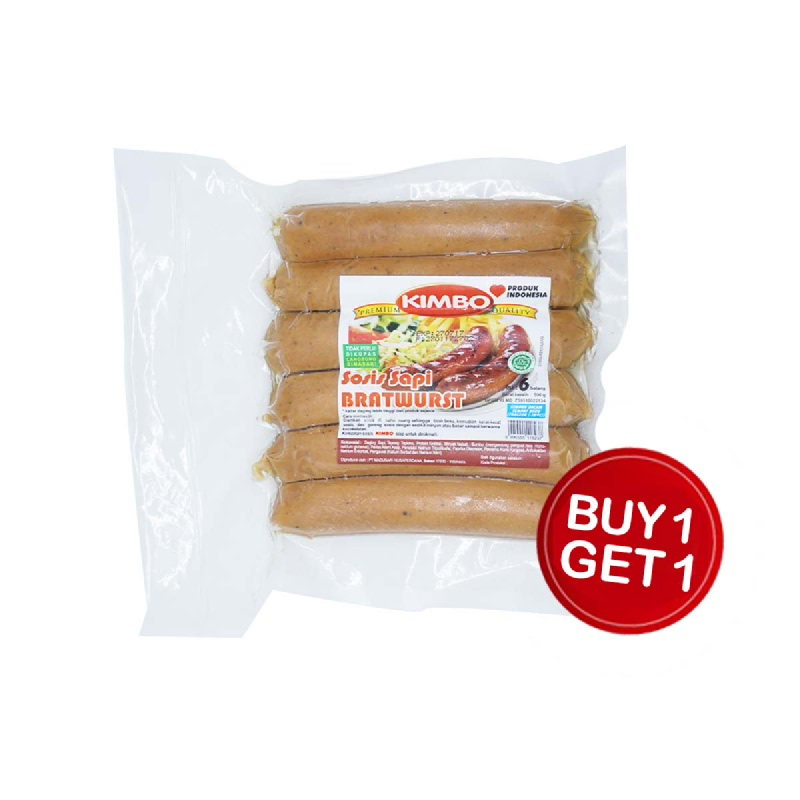 Kimbo Kitchen Sosis Sapi 500 Gr (Buy 1 Get 1)