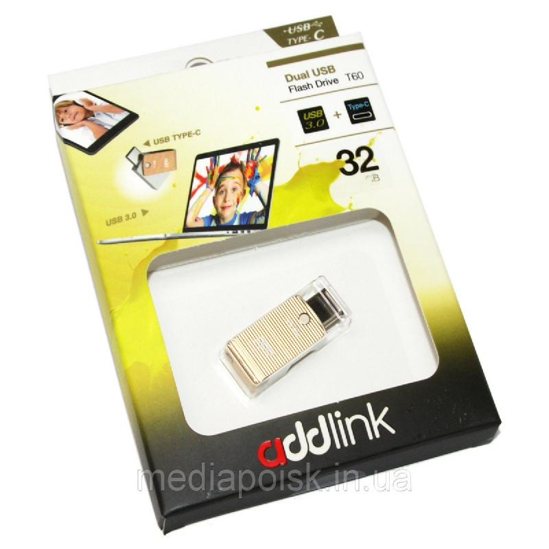 addlink OTG DUAL USB & TYPE C 32GB GOLD AD32GBT60R3 1905656