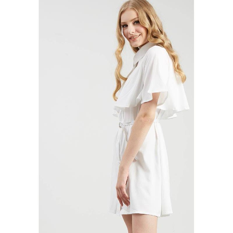 Francois Ruthen Dress in White