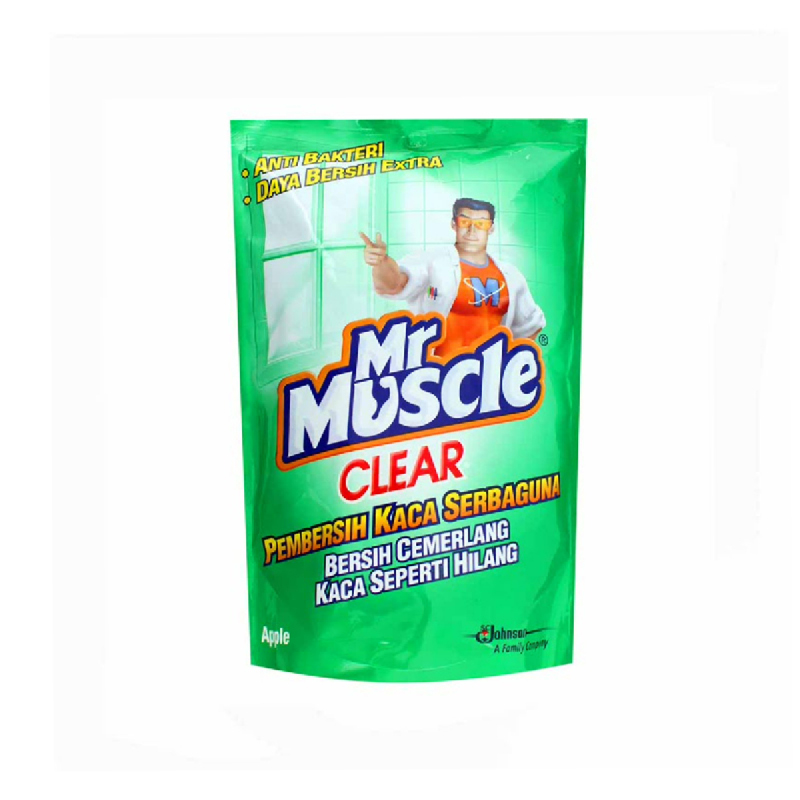 Mr. Muscle Clear Glass Liquid Apple Pouch 440 Ml